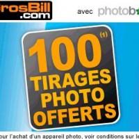 GROSBILL : 100 tirages photos gratuits avec PhotoBox pour l'achat d'un appareil photo numérique